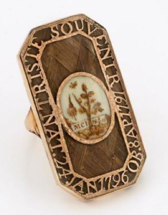 French Mourning Ring, 1791, for the death of a child.