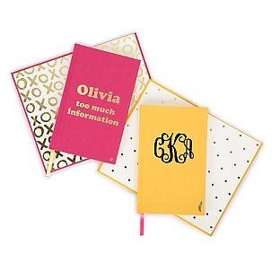Note to self: Our personalized Linen Gold Stamp Journals are the perfect place for dreams, lists and doodles. Each journal has a gold icon stamped in the bottom corner and a satin ribbon bookmark. Personalize the front cover with your name, monogram or a fun saying. https://www.thingsremembered.com/product/Linen-Gold-Stamp-Journals/176847.uts