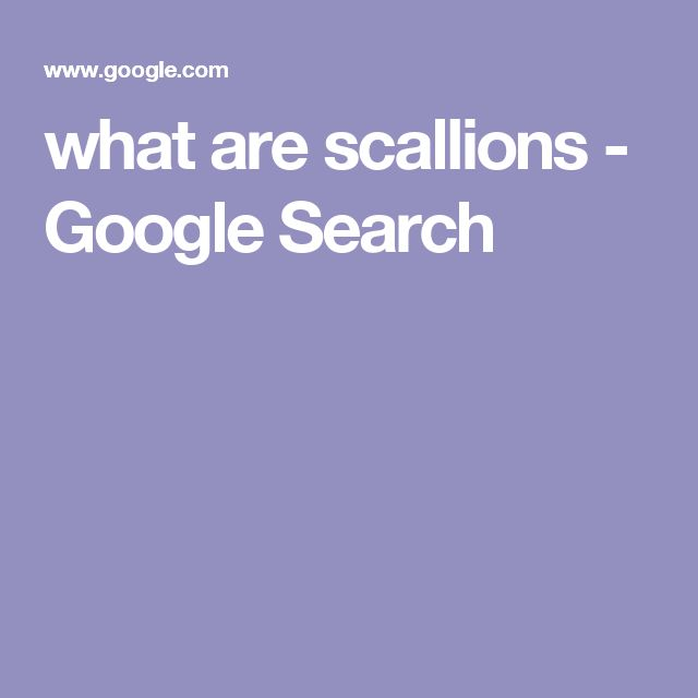 what are scallions - Google Search