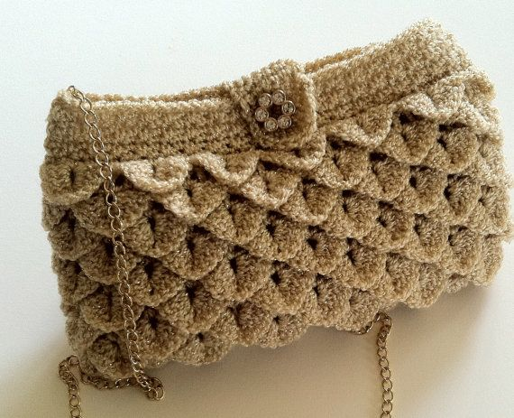 Crochet Pattern for Clutch, Purse, Evening Bag, Crocodile Stitch, PDF 12-056 INSTANT DOWNLOAD on Etsy, $65.40