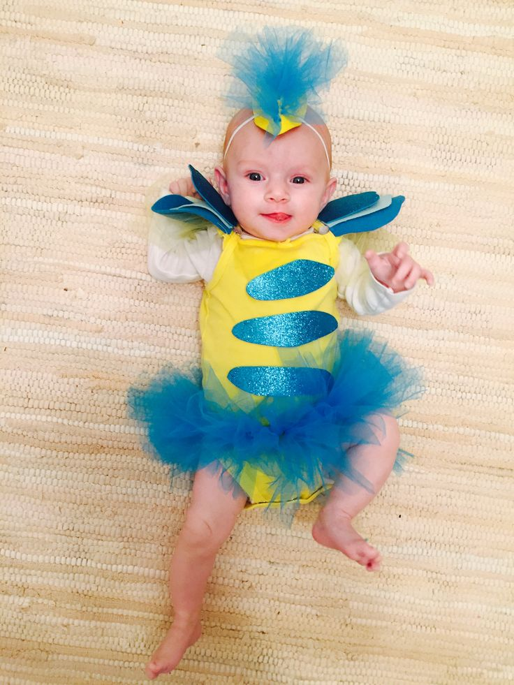 Baby Flounder costume. DIY littler mermaid!