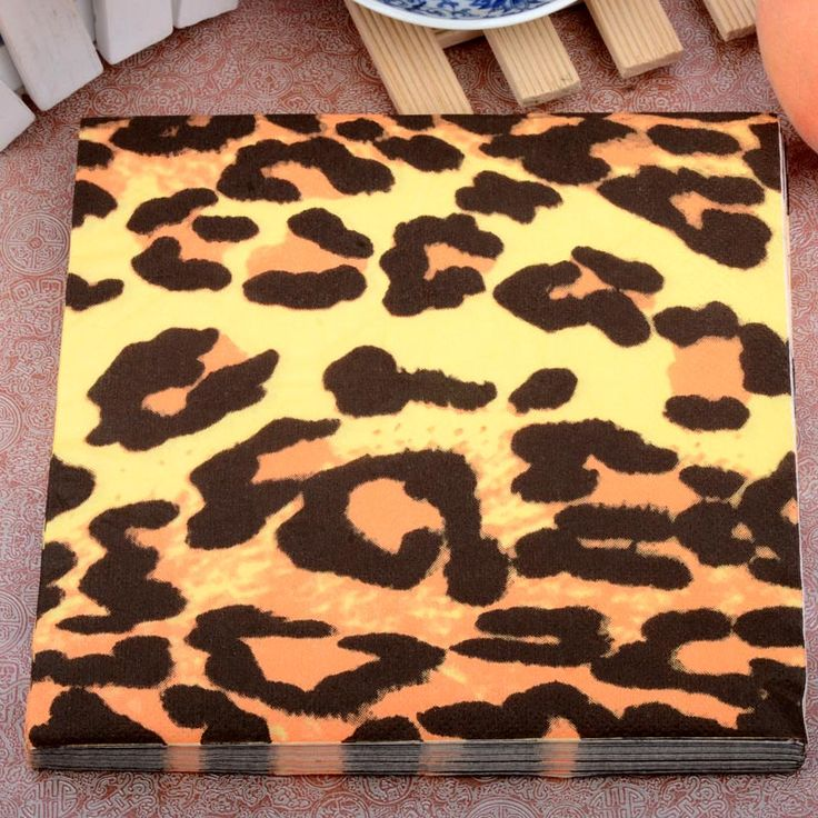 Personality Wild Sexy Leopard print Paper Napkins Event & Party Tissue Napkin Supply Party Cafe Decoration 33CM*33cm 20pcs/pack