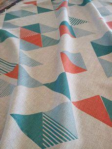 Tamasyn Gambell for Ercol    http://ercolblog.com/ercol-hand-printed-fabric-tent-london/#