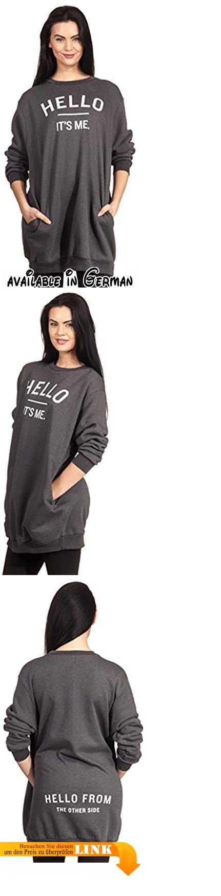 Hello Its Me Sweater Sweatshirt Oversize Print Song Lyrics Statement Aufdruck Lied Dunkelgrau S/M. Sweater Sweatshirt Oversize Pulli. Oversize Sweater mit Front- und Back Aufdruck. Vorderseite: Hello its me Rückseite: Hello from the other side. Instagram Stars lieben diesen Adele Pulli. Design & Verkauf by Loomiloo - All rights reserved #Apparel #SWEATER