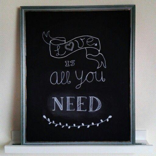 Chalkboard love is all you need diy handmade craft