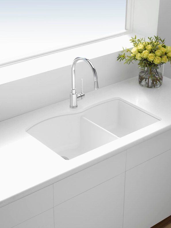 kitchen sink white counter decor blanco silgranit sinks google search