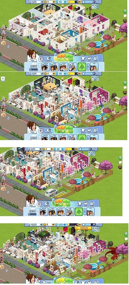 Sims social game house