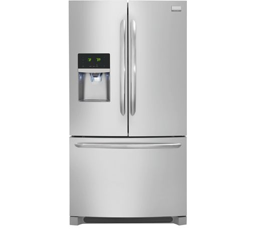 Frigidaire, Gallery 22.6 Cu. Ft. French Door Counter-Depth Refrigerator in Stainless Steel, FGHF2366PF