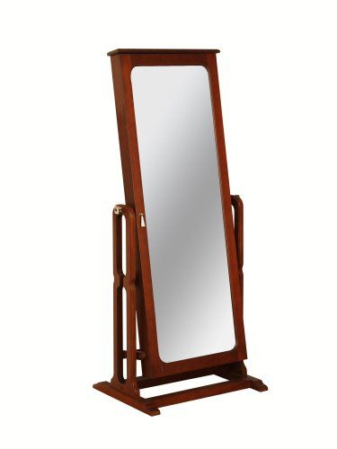 """http://103rdavenue.com/powell-dakota-cheval-jewelry-wardrobe-with-full-length-mirror-marquis-cherry/ Features a full length adjustable mirror that opens to reveal deep luxurious, brown lined jewelry storage compartments. The full length mirror adjusts to three different angles for dressing or grooming. Convenient jewelry storage for rings, earrings, bracelets, broaches, and accessories. Finished in rich """"Marquis Cherry"""" with """"Antique Brass"""" hooks..."""