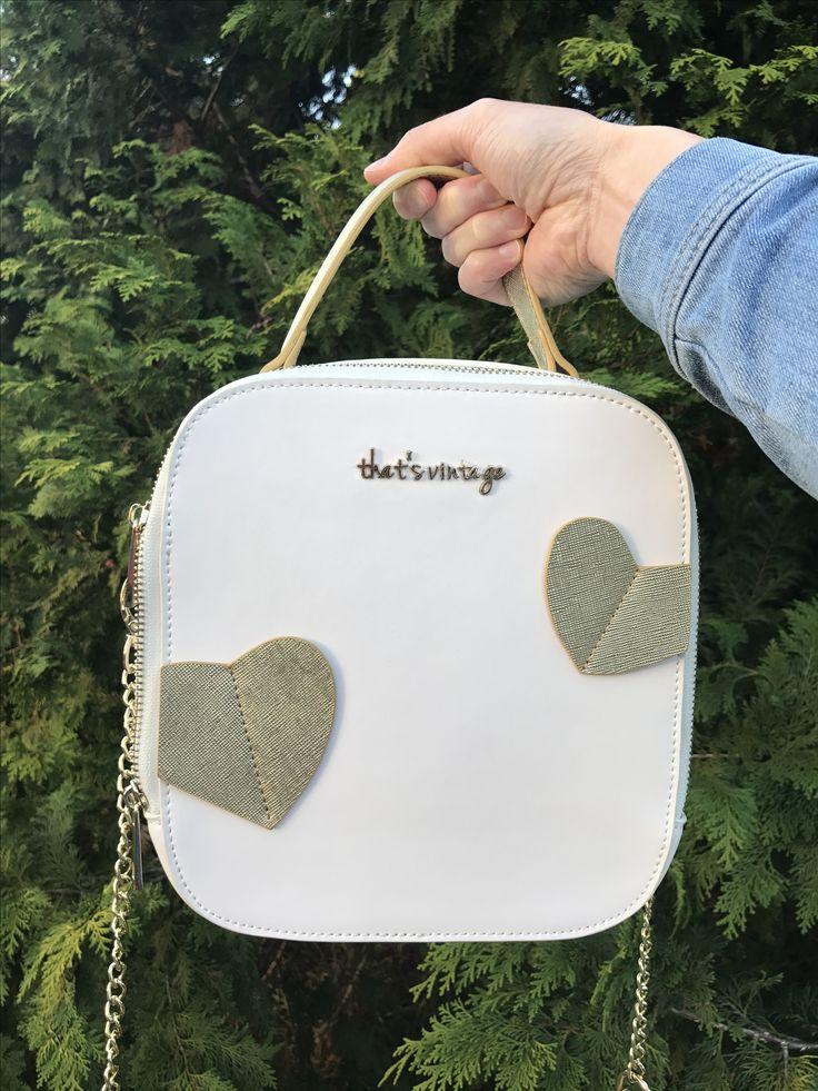 white handbag, white crossbody, hearts handbag, hearts crossbody, christmas gift, gifts for her