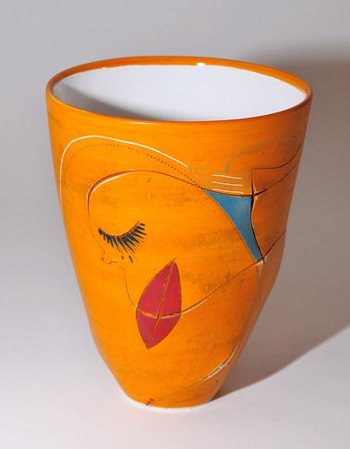 Collection africasso - vase fin orange