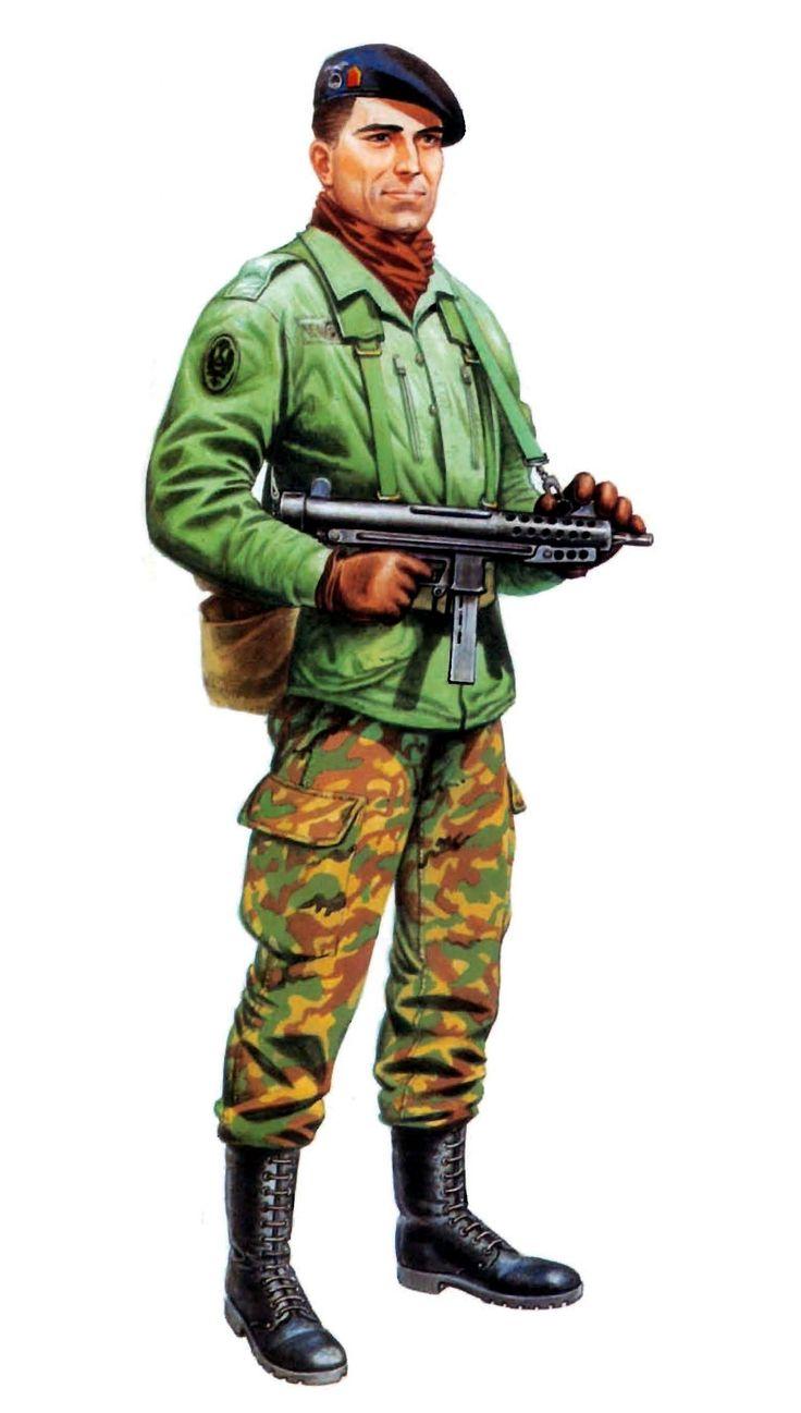 Paracaidista español decada de los 80