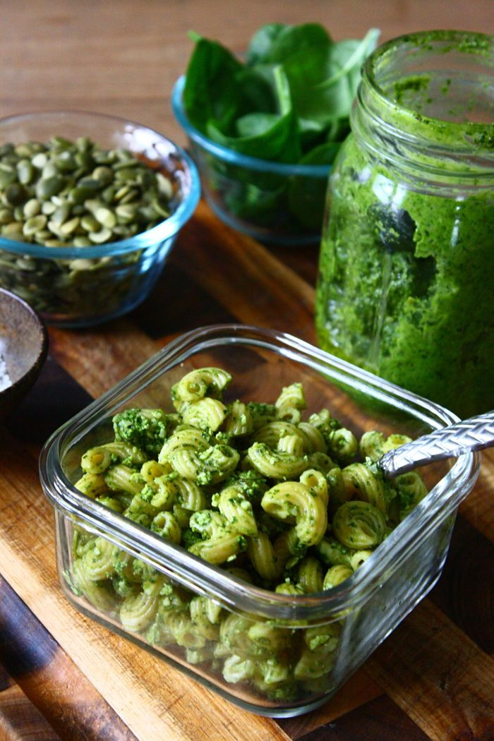 Pumpkin Seed and Spinach Pesto - aka how to get your toddler to eat green things that aren't leaves from the backyard #kid-friendly