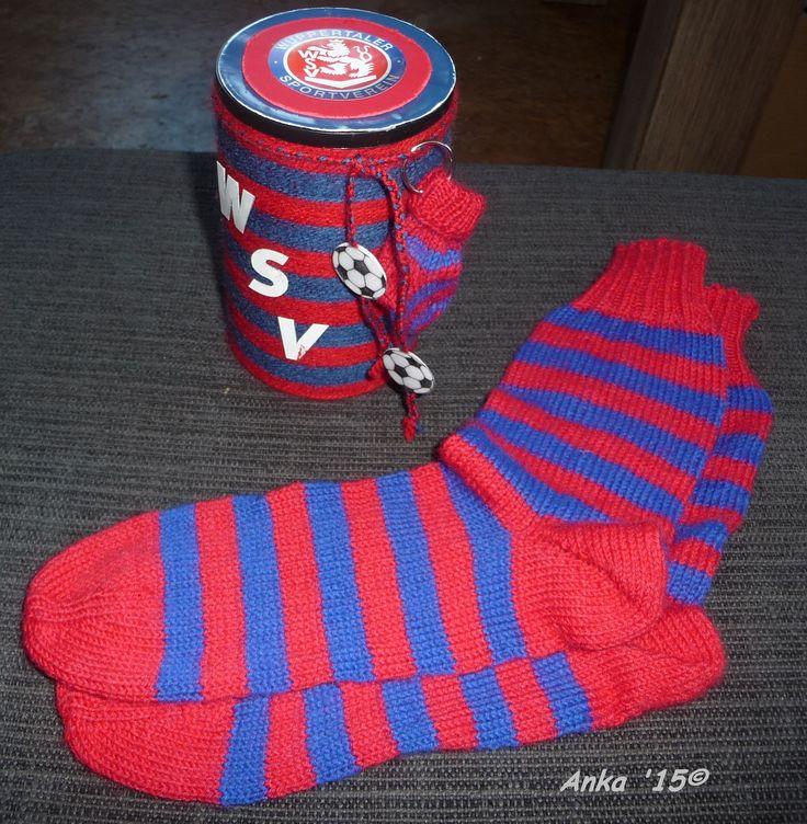Fan - Socken für den Wuppertaler Sportverein WSV in Größe 37 mit passender Verpackung!!!!