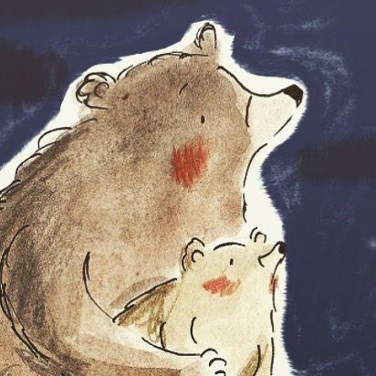 Good Night guys! ⭐️ #goodnight #bears #nightsky #doodlelife #doodler #illustratorlife #illustration_best #moreillustrations #childrensillustration #best_of_illustrations #pelaeldiente #sketchbooks #illustrateyourworld