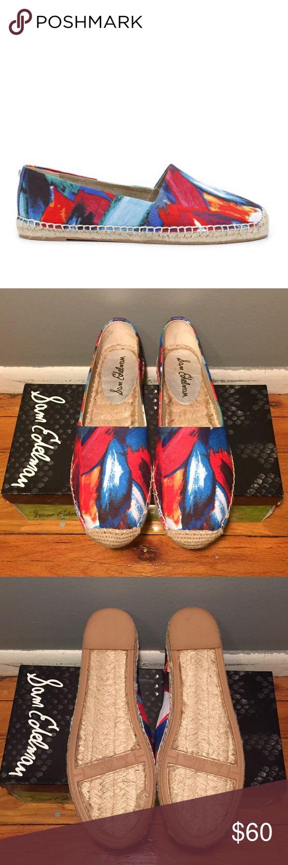 Sam Edelman multi color espadrilles  size 7.5 NIB Sam Edelman Lynn blue multi espadrilles size 7.5 Sam Edelman Shoes Espadrilles