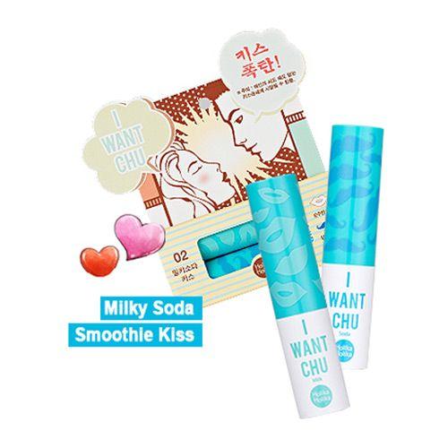 [Holika Holika] I Want Chu ♥ Lip Balm #02 Milky + Soda > Cosmetics | K-Beauty & Korean Cosmetics Online Shop, Ships Worldwide | STYLEKOREAN.COM