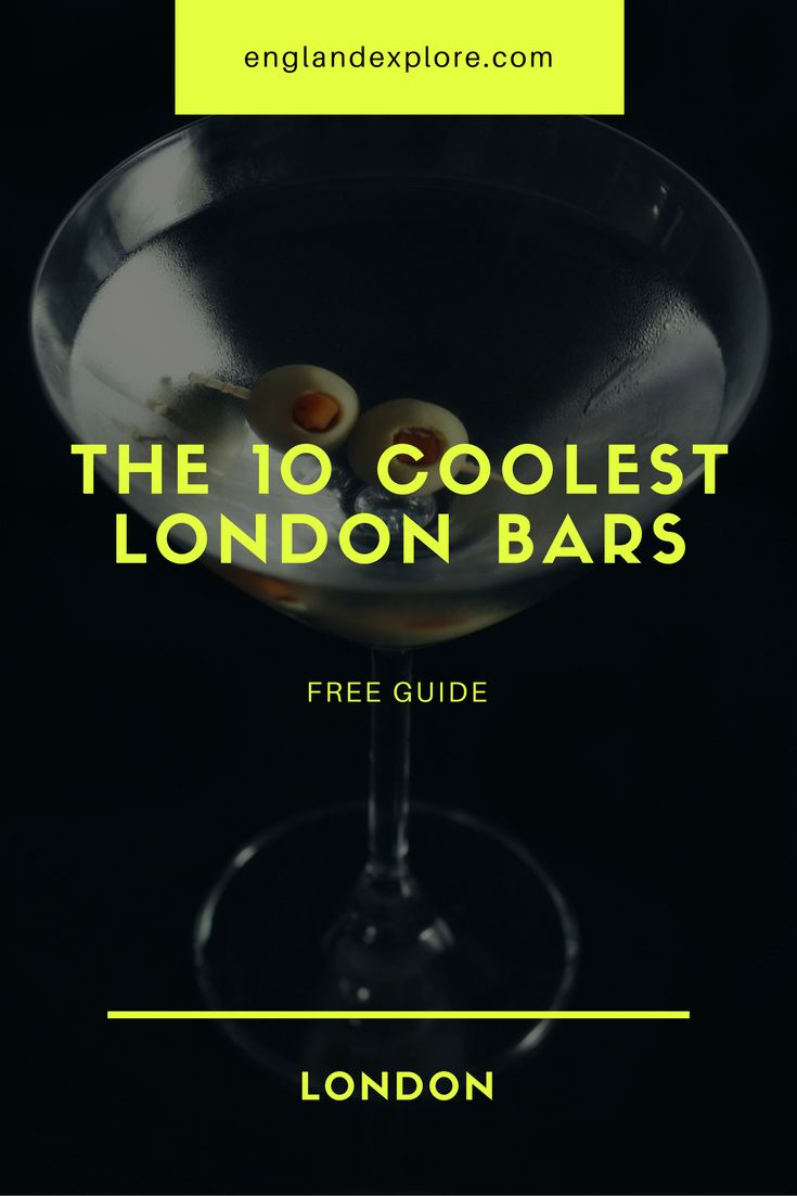 Here's our guide on the 10 coolest drinking spots in London. Enjoy...