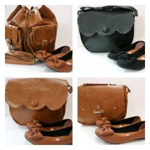 Paket tas vintage + Flat Shoes Pita - AyeshaShop.Com Peluang Usaha Indonesia