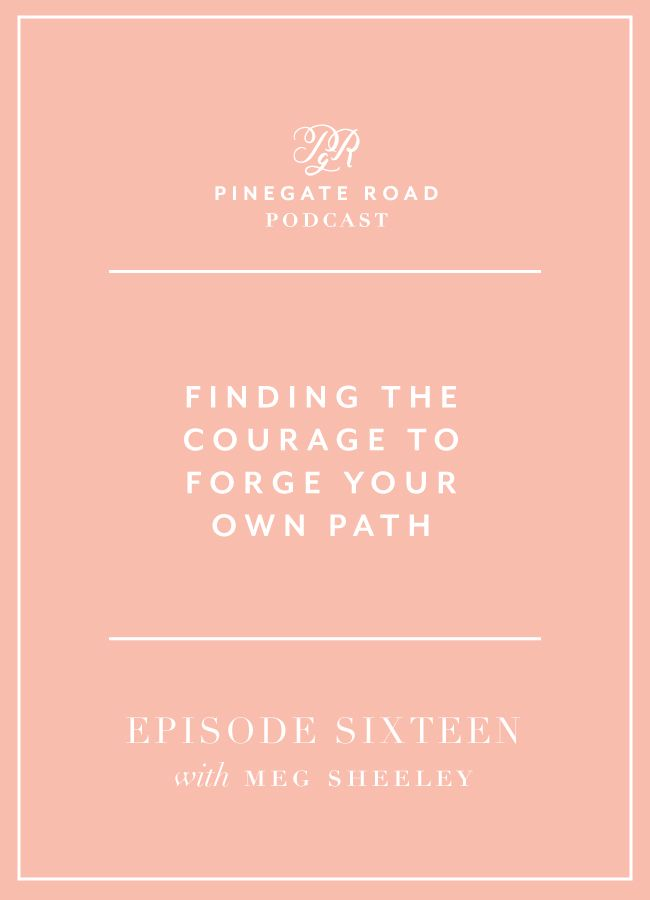 Forging your own path will make you happier than listening to what anyone else thinks you should be doing That's a major takeaway from my interview with Meg Sheeley, the founder of Summerfield Delight and SquareSpace Design Guild. Meg and I have had similar journeys in our careers, even attending the same design school although …