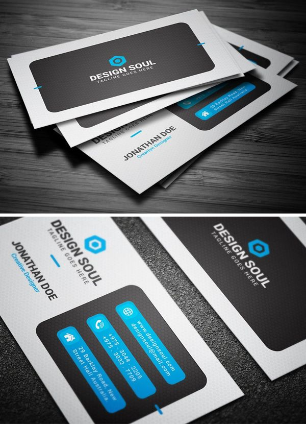 Corporate Business Card Template Simple Business Cards