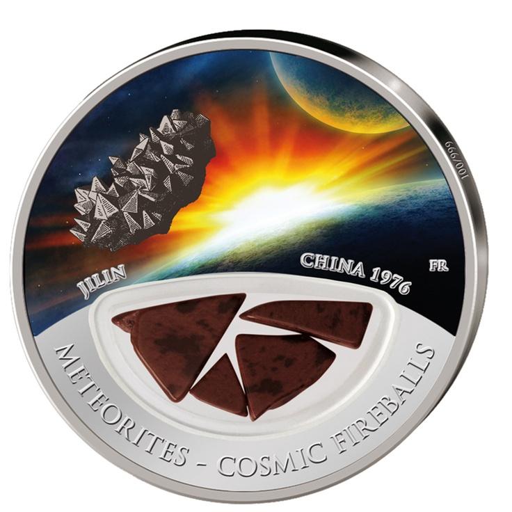 Silver Coins-Fiji 2012 $10 Meteorite Jilin Cosmic Fireballs Silver Proof Locket coin