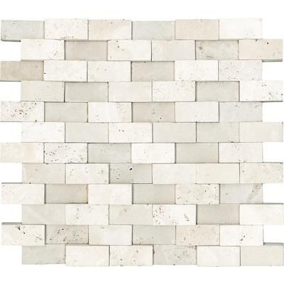 anatolia honed cubics ivory travertine mosaics 1 inch home depot canada kitchen backsplash Home Depot Self Adhesive Backsplash
