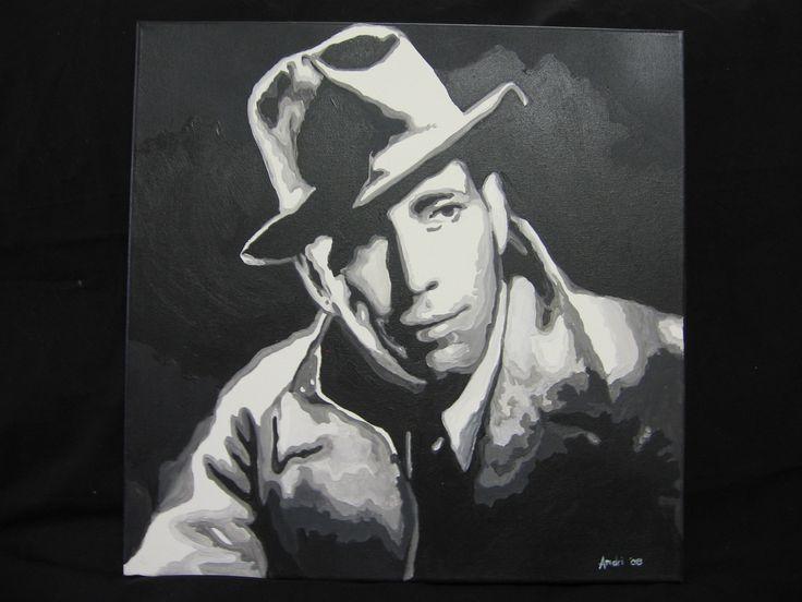Humphrey Bogart - acrylic on canvas