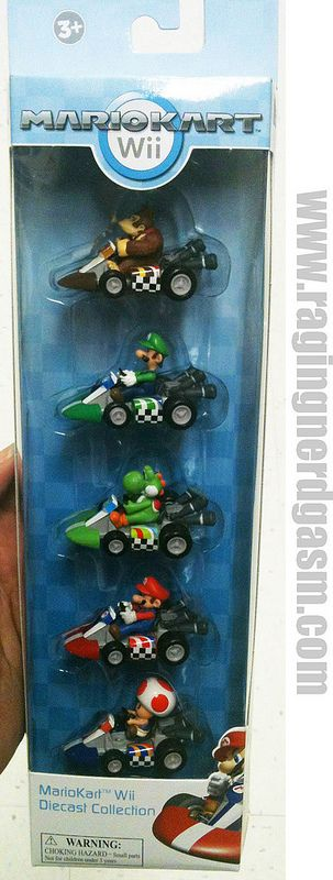 Nintendo's Super Mario Brothers Mario Kart Wii Diecast Collection https://www.flickr.com/photos/ragingnerdgasm/sets/72157631585779495/