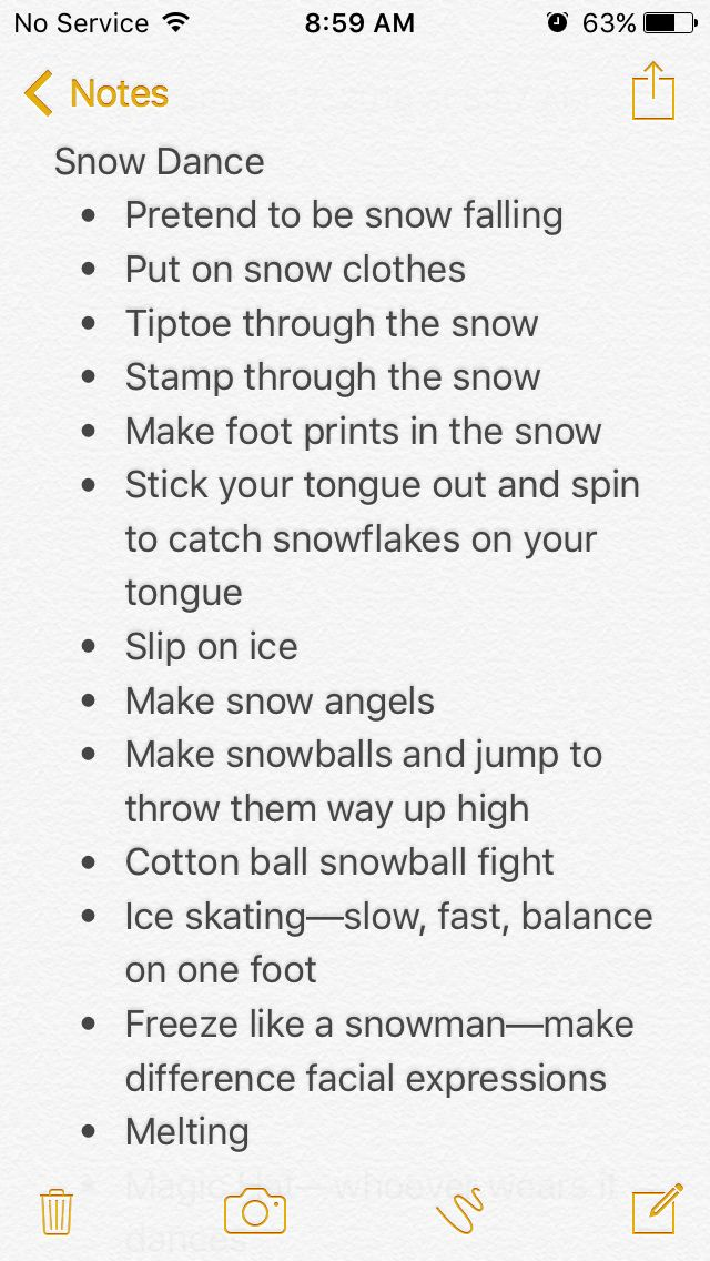Snow-Themed Dance for Creative Movement