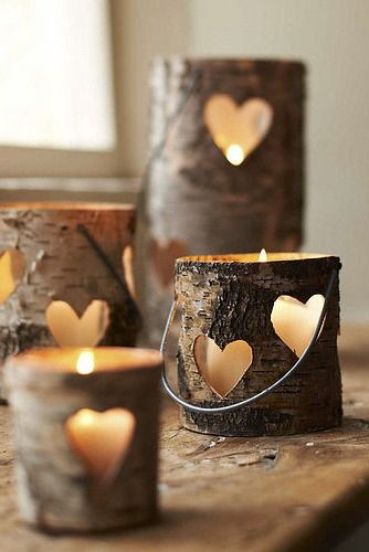 Cabin Styled Candles- we love!
