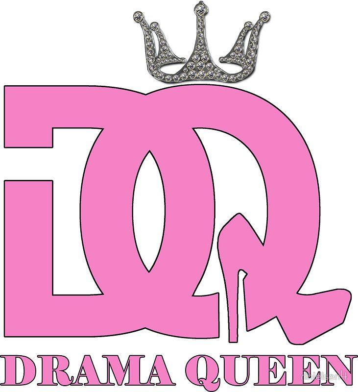 Drama queen logo sticker