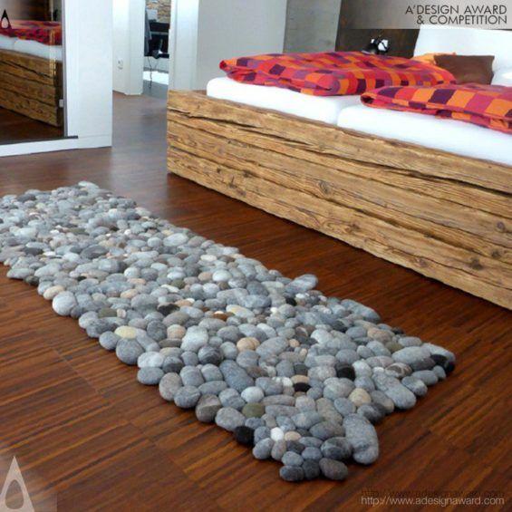 Felt Stone Rug Runner By Martina Schuhmann Design Awards Design Design Competitions