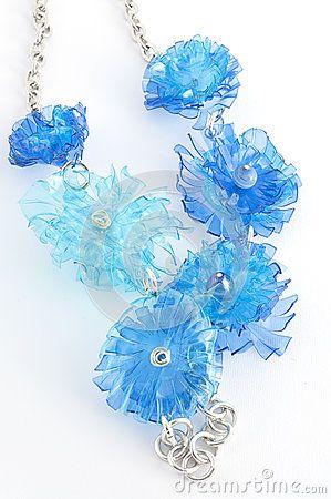 ****2*********////visitare...........////Ecojewelry collana da bottiglie di plastica riciclate