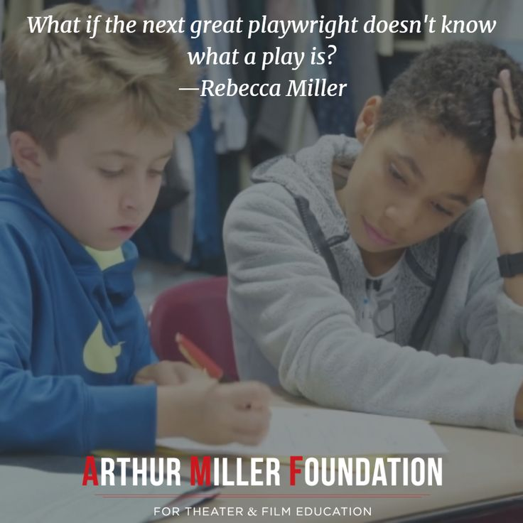 What if the next great playwright doesn't know what a play is? —Rebecca Miller Learn why we invest in NYC public schools: https://arthurmillerfoundation.org/invest-nyc-public-schools/?utm_content=buffer6f456&utm_medium=social&utm_source=pinterest.com&utm_campaign=buffer #NYC #PublicSchools #PublicSchoolProud #Education #ArtsEd #theater #artsandculture #humansofny #NewYorkCity