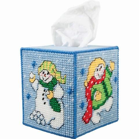 Herrschners® Frosty Pals Tissue Box Plastic Canvas Kit