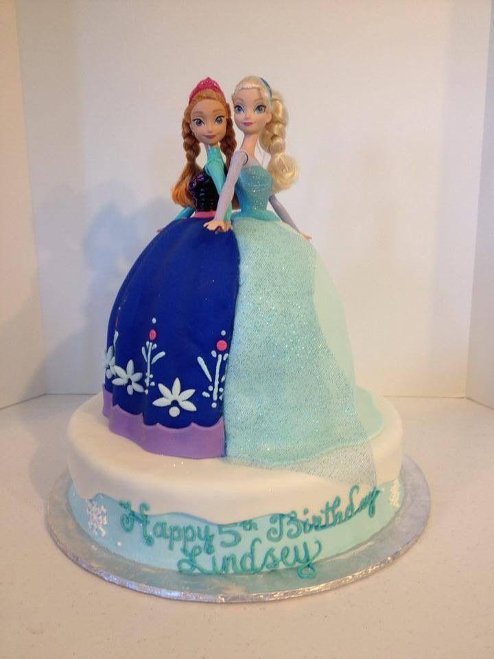 Anna Amp Elsa Doll Cake Frozen Birthday Pinterest