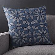 """Mohana 20"""" Blue Pillow"""