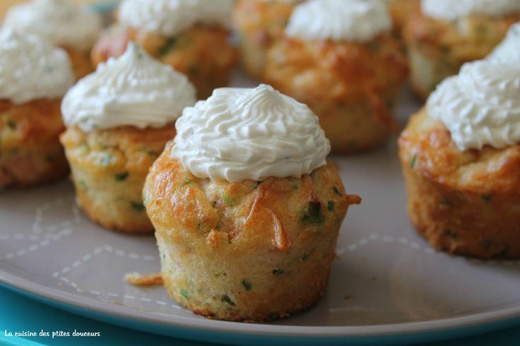 Mini Cupcakes saumon ciboulette et fromage frais