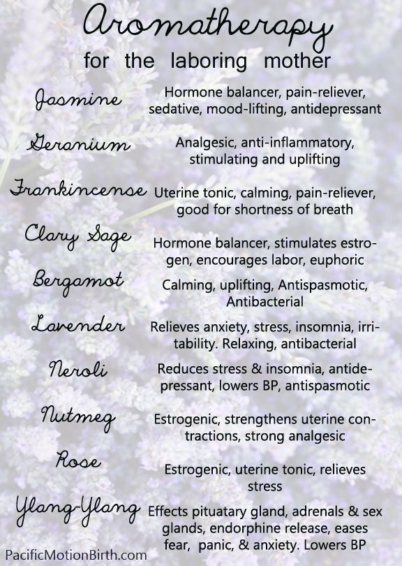 Aromatherapy guide for pregnancy and the laboring mother. Natural pain relief, uterine stimulant's, calming and uplifting, and more! www.PacificMotionBirth.com