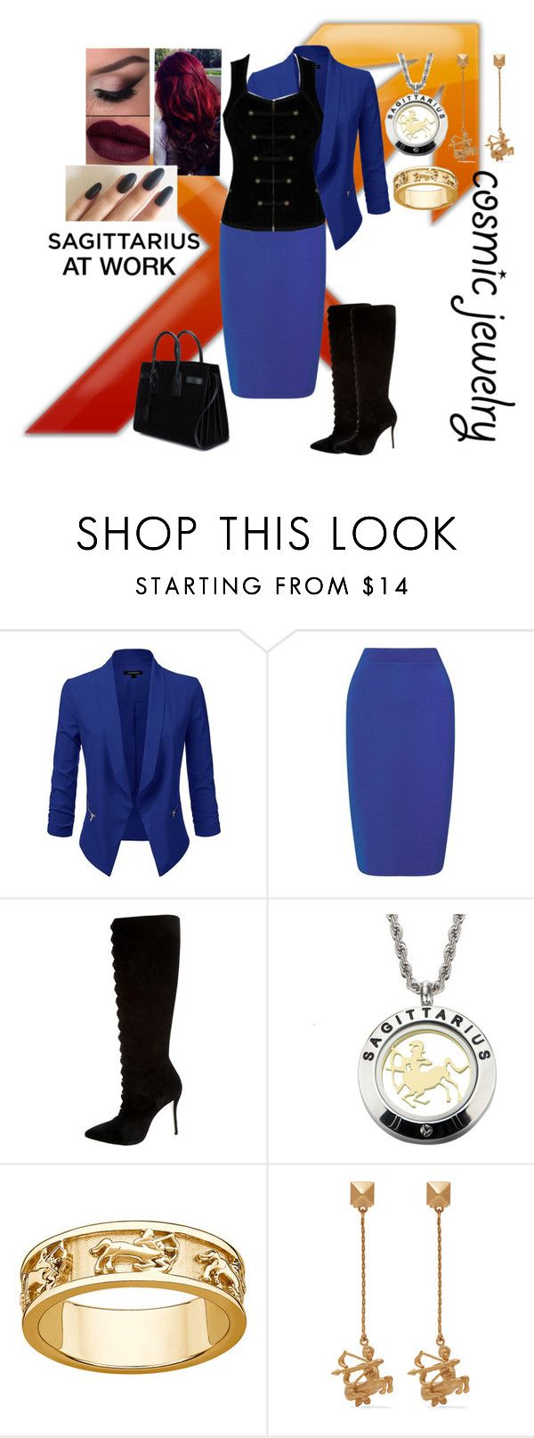 """Sagittarius at work"" by harleyquinn-1970 ❤ liked on Polyvore featuring Miss Selfridge, Oscar de la Renta, Valentino and Yves Saint Laurent"
