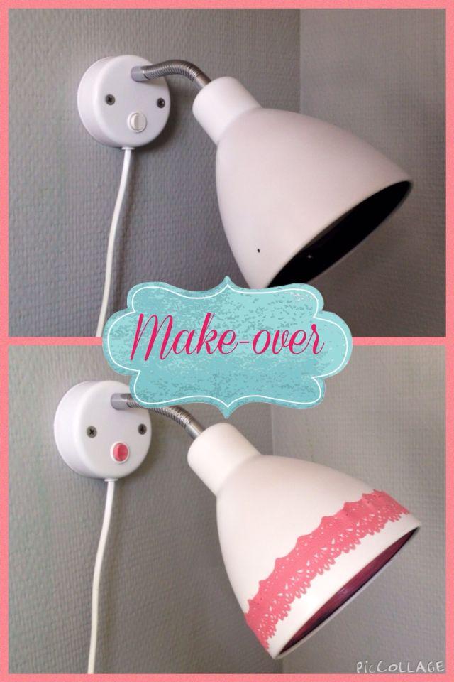 Leeslampje make over DIY - Jeanne van Slooten