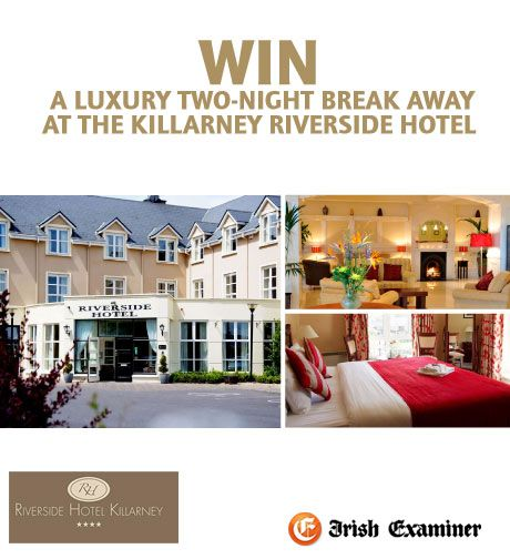 Win a Luxury Break at the Killarney Riverside. Fill out your details to be in to win.