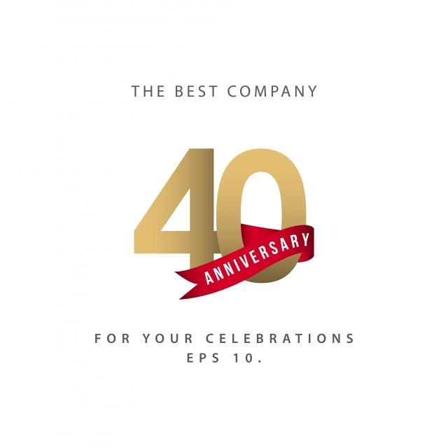40 Year Anniversary Celebration Vector Template Design Illustration 40 Anniversary Years Png And Vector With Transparent Background For Free Download 40 Year Anniversary Company Anniversary Anniversary