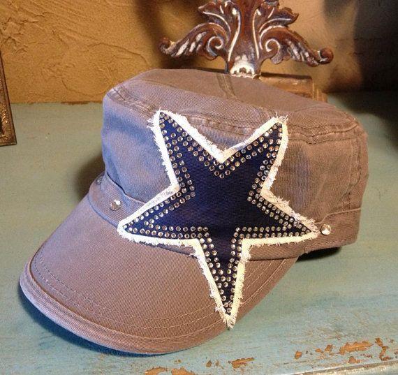 Dallas Texas Cowboys Footabll Military Style Baseball Bling Ladies Womens HAt