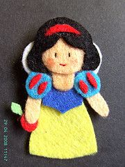 Snow White pin - you'd have to make your own pattern, but she's darn cute!