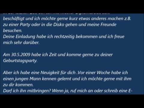 Deutsche Brief A1 A2 B1 Prüfung Einladungsbrief 45 Youtube