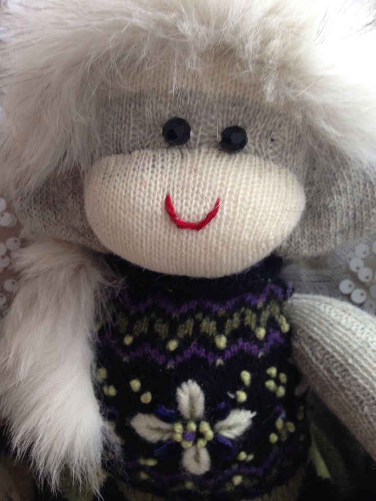 A personal favourite from my Etsy shop https://www.etsy.com/ca/listing/494993875/one-of-a-kind-winter-wonderland-monkey