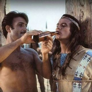 winnetou pierrebrice lexbarker oldshatterhand karlmay Western movie film backstage marterpfahl lederanzug warm durst trinken brenkette nativeamerican indianer mescalero apachen love naturbhne...
