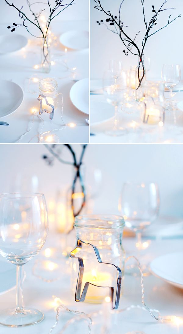 Lovely simple Christmas table